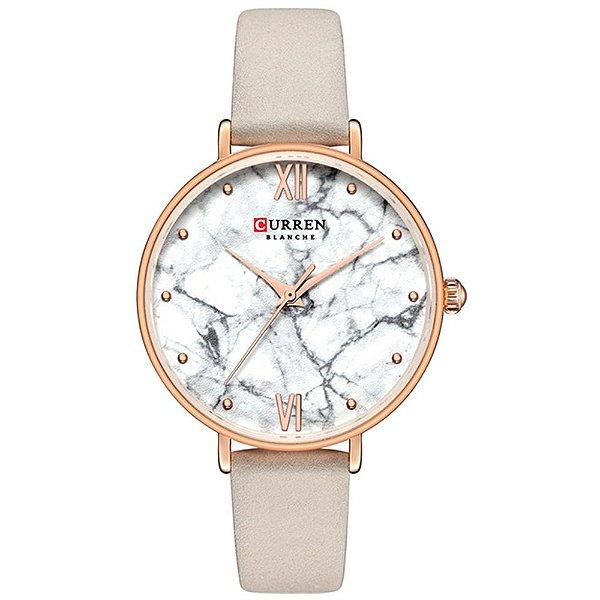 Relógio Feminino Curren Analógico C9045L - Bege e Rose