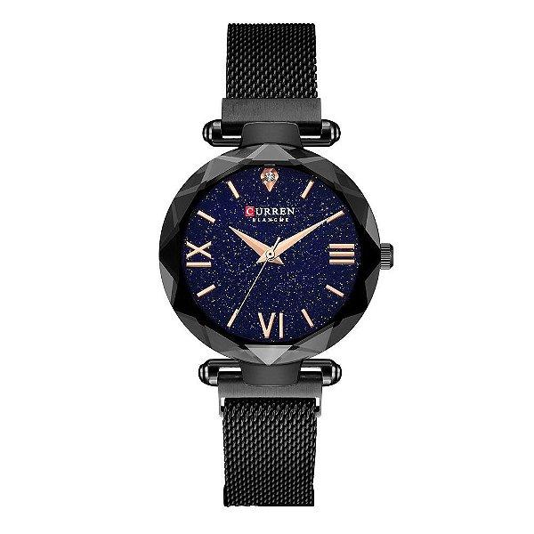 Relógio Feminino Curren Analógico C9063L - Preto