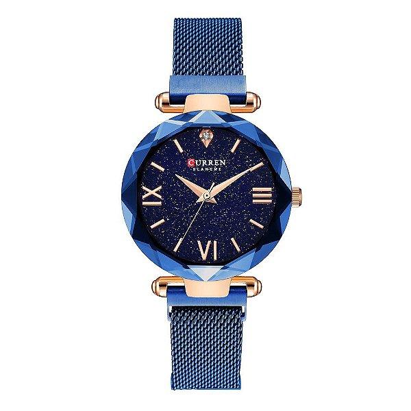 Relógio Feminino Curren Analógico C9063L - Azul e Rose