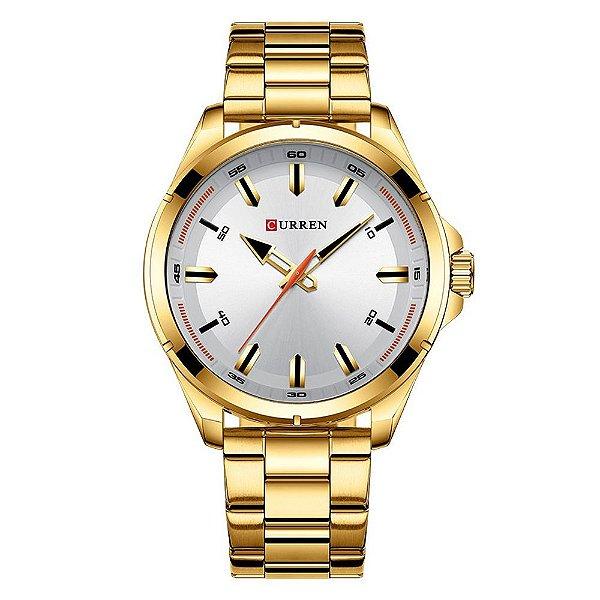 Relógio Masculino Curren Analógico 8320 - Dourado