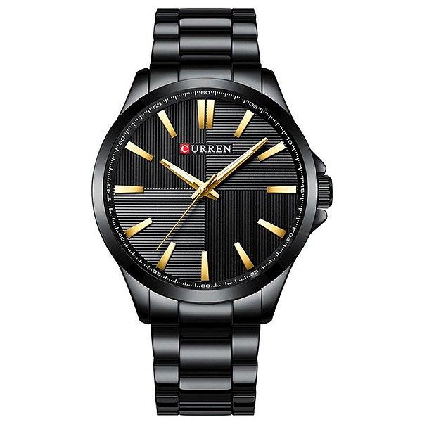 Relógio Masculino Curren Analógico 8322 - Preto e Dourado