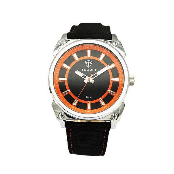 Relógio Masculino Tuguir Analógico 5007 Laranja