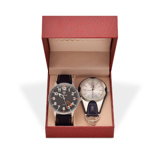 Kit Relógio Masculino Tuguir Analógico 5022 e Relógio Chaveiro 5506G