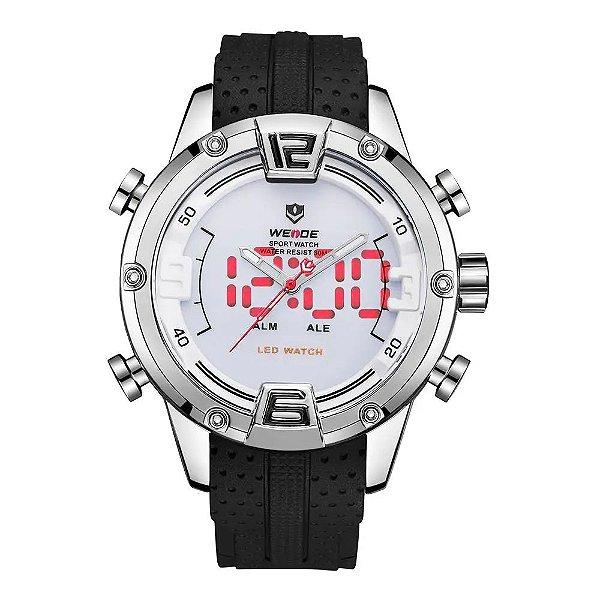 Relógio Masculino Weide AnaDigi WH7301 - Prata e Branco