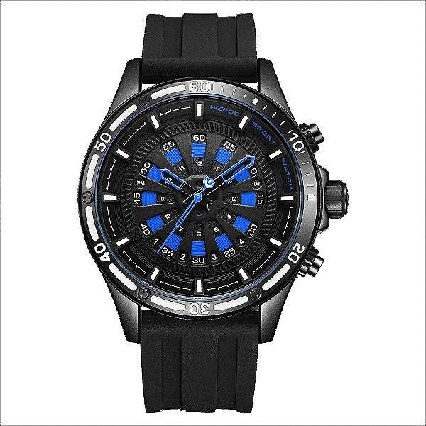 Relógio Masculino Weide Analógico WH-7308 - Preto e Azul