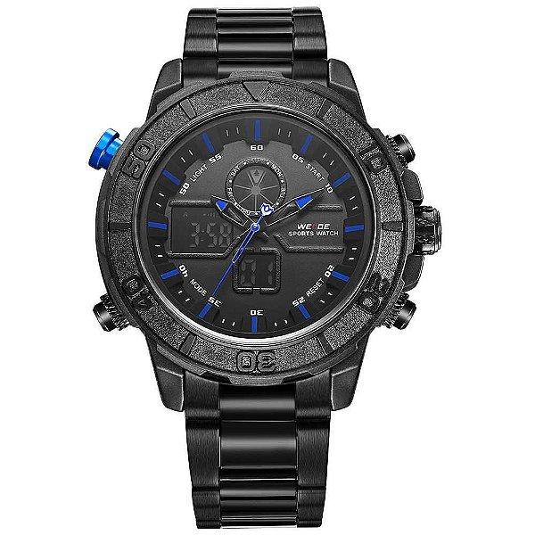 Relógio Masculino Weide AnaDigi WH-6108 - Preto e Azul