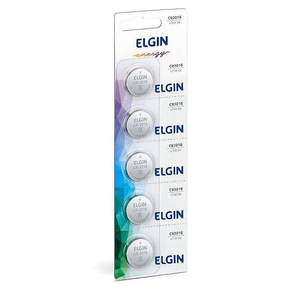 Cartela de Bateria Elgin Lítio CR2016 3V