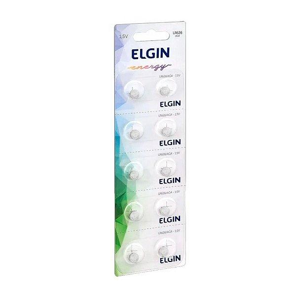 Cartela de Bateria Elgin Lítio LR626 1.5V
