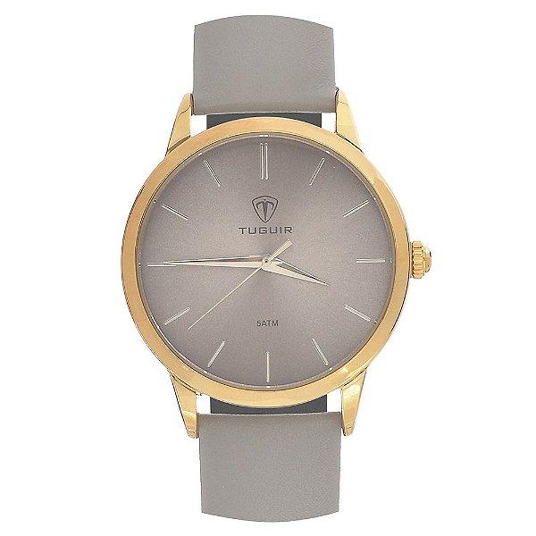 Relógio Feminino Tuguir Analógico TG106 - Cinza e Dourado