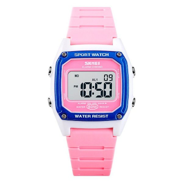 Relógio Infantil Menina Skmei Digital 1614 - Rosa