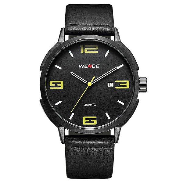 Relógio Masculino Weide Analógico WD004 - Preto e Amarelo