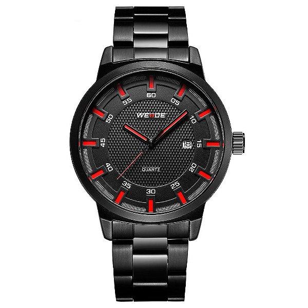 Relógio Masculino Weide Analógico WD002 - Preto e Vermwelho