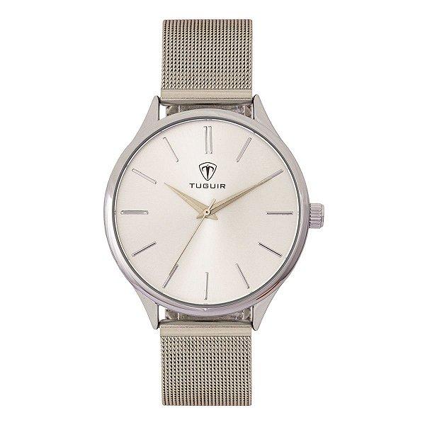 Relógio Feminino Tuguir Analógico TG111 - Prata