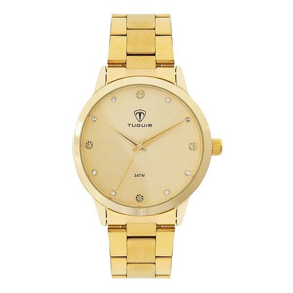 Relógio Feminino Tuguir Analógico TG115 - Dourado