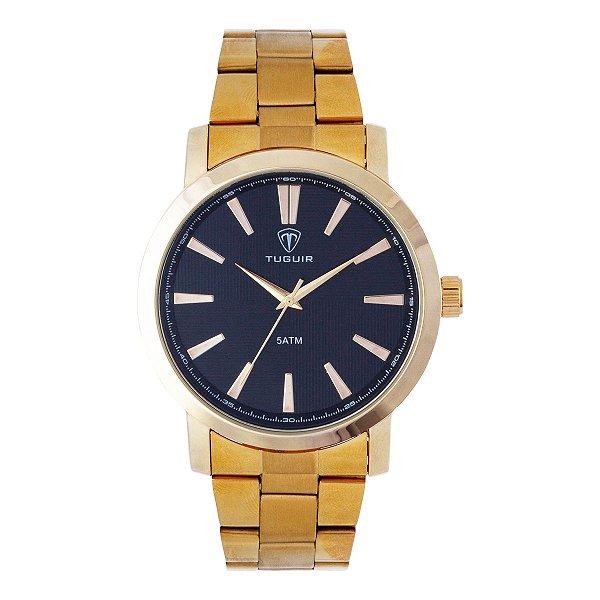 Relógio Masculino Tuguir Analógico TG118 - Dourado e Preto