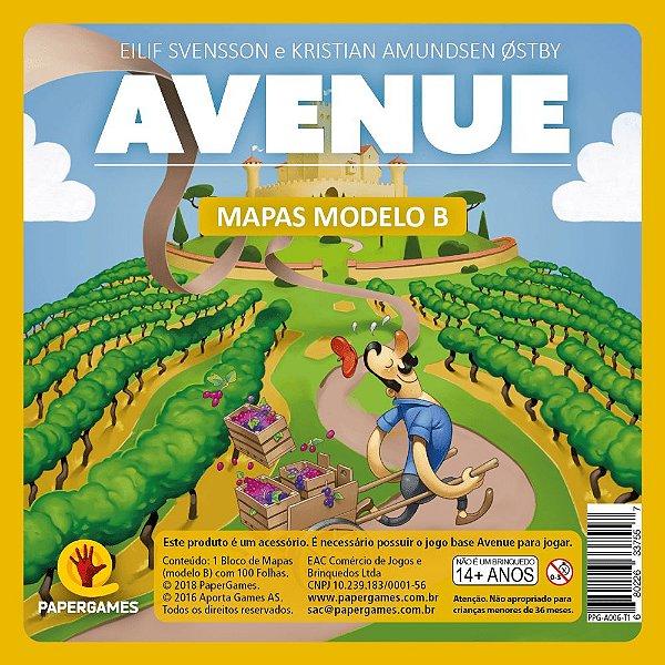 Avenue - Bloco de Mapas Modelo B
