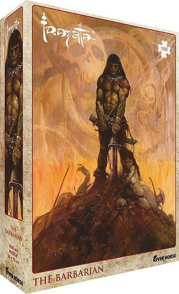 Quebra-cabeça 1000 peças Frank Frazetta: The Barbarian