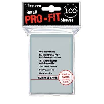 Sleeves Ultra PRO: PRO-Fit Clear Small 60 x 87 mm (100)