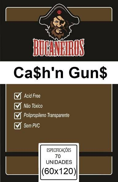 Sleeves Customizados Bucaneiros: Cash n Guns 60 x 120 mm
