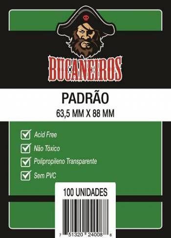 Sleeves Bucaneiros: PADRÃO 63,5 x 88 mm