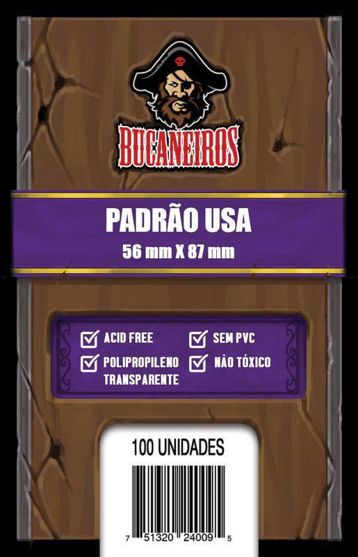 Sleeves Bucaneiros: PADRÃO USA 56 x 87 mm