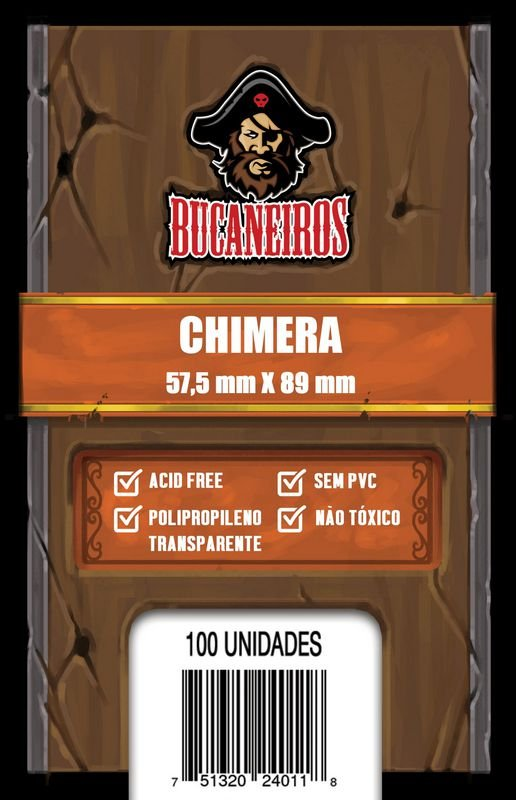 Sleeves Bucaneiros: CHIMERA 57,5 x 89 mm