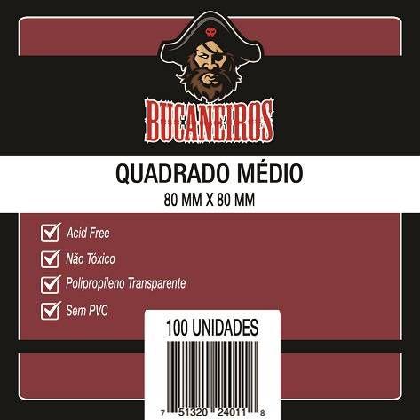 Sleeves Bucaneiros: QUADRADO MÉDIO 80 x 80 mm