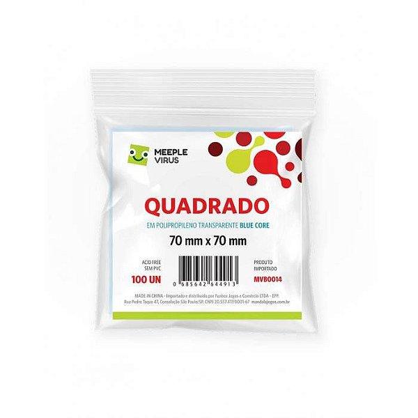 Sleeves Meeple Virus: QUADRADO 70 x 70 mm (Blue Core)