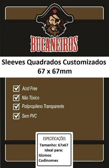 Sleeves Customizados Bucaneiros: Quadrado 67 x 67 mm