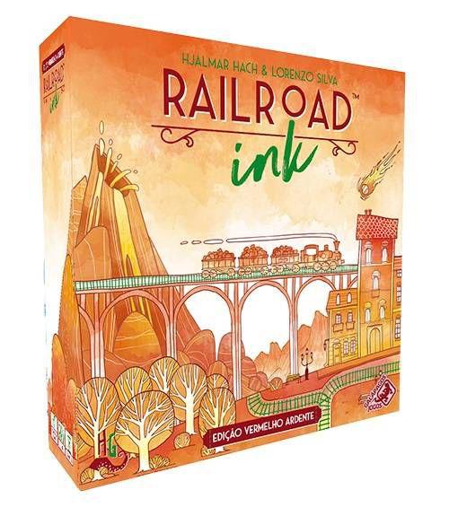 Railroad Ink Edicao Vermelho Ardente