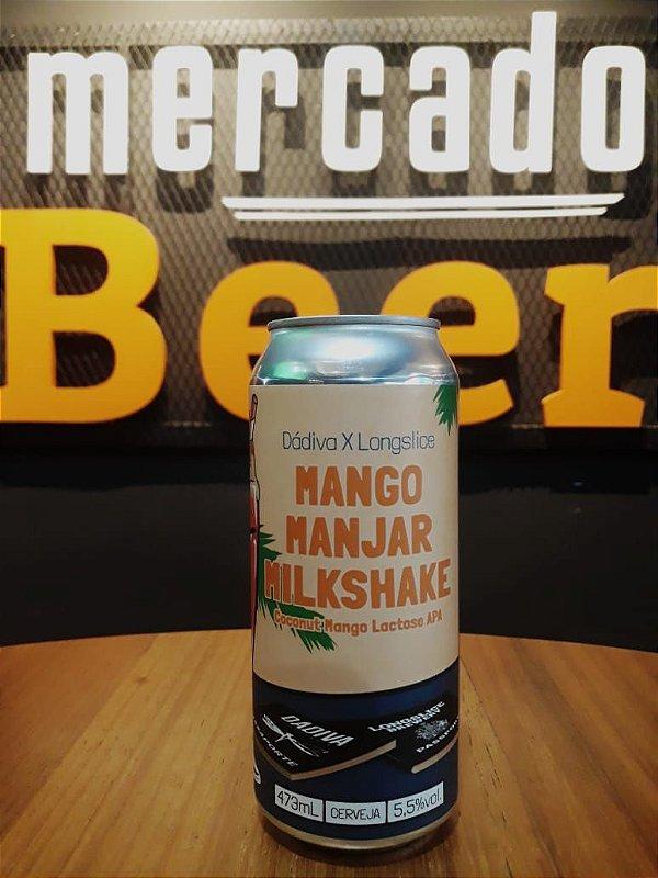 Cerveja Dádiva x Longslice Mango Manjar Milkshake 473ml