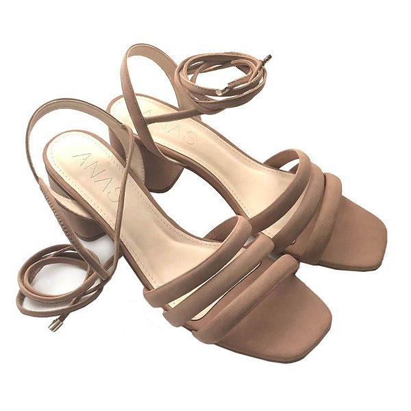 Sandália de Amarrar Nude