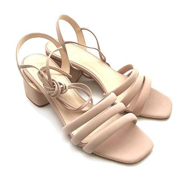 Sandália de Amarrar Rosé
