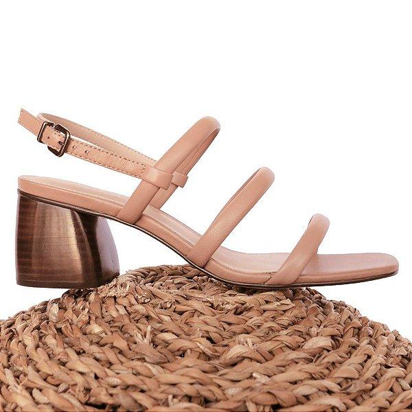 Sandália Três Tiras Areia