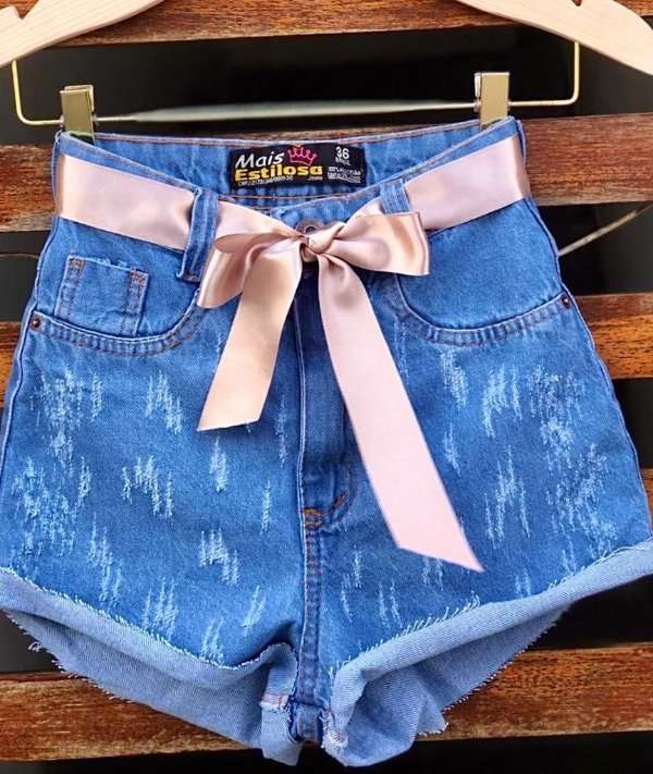 Short Jeans Fita Nude