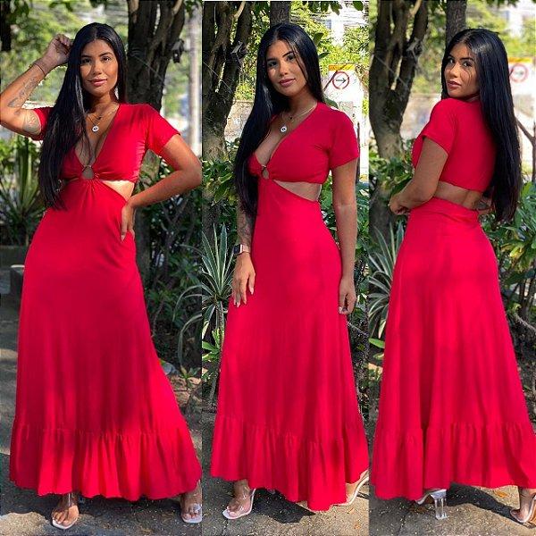 Vestido Argola Vermelho