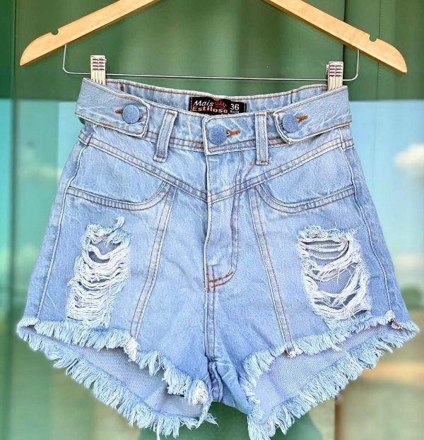 Short Jeans Botao Forrado
