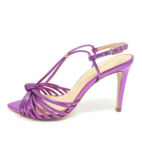 Sandália Cecconello Pink Metalizado