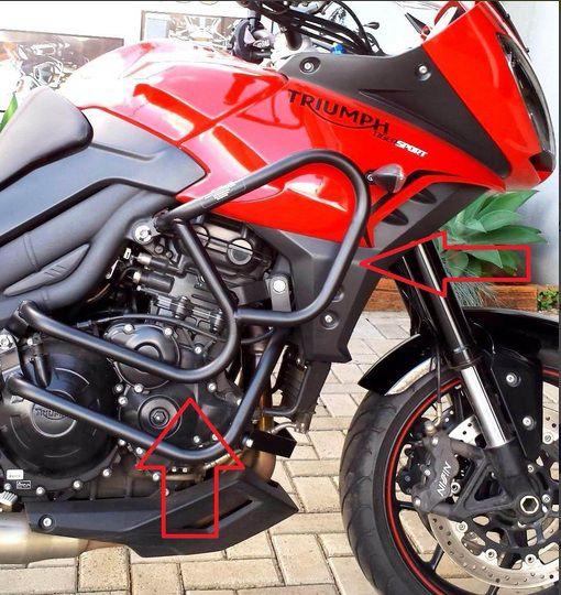 Protetor Motor Triumph Sport 1050 Somente Superior ( sem pedaleiras ).