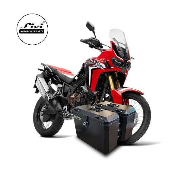 Baús Laterais Honda CRF 1000L Africa Twin + Suportes.