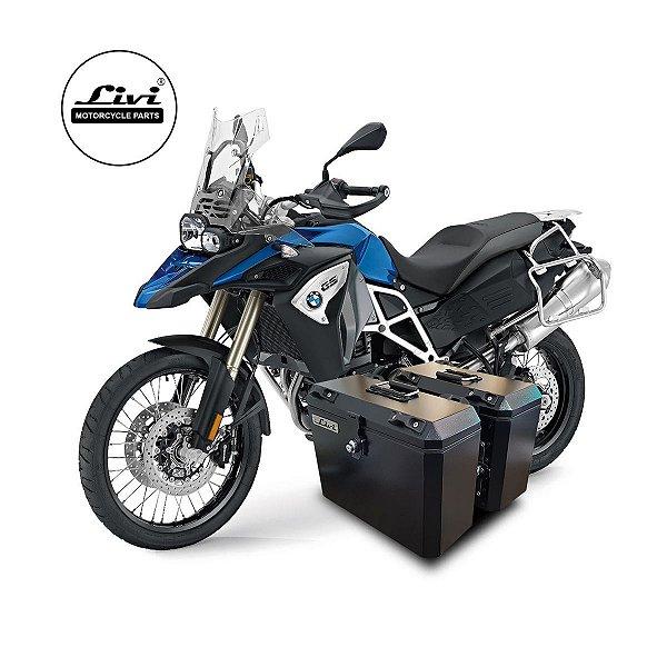 Baús laterais Livi para moto BMW F800 GS Adventure.