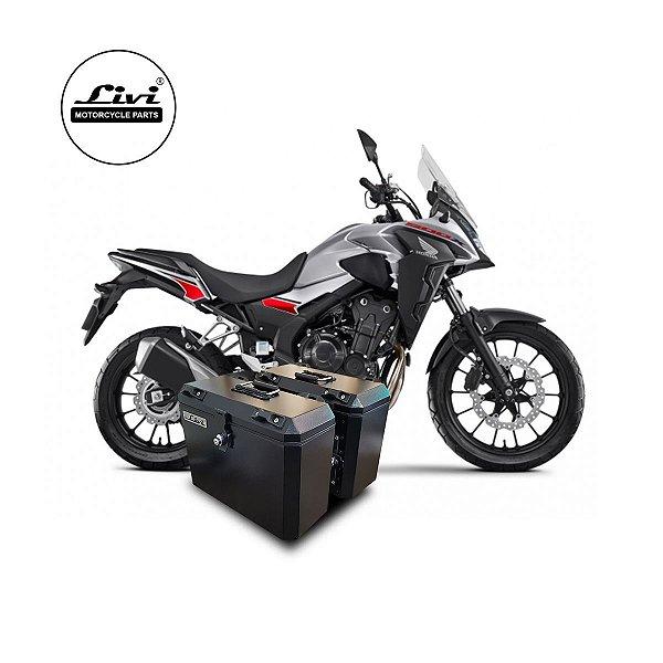Baús laterais Honda CB 500X 2020 + Suportes.