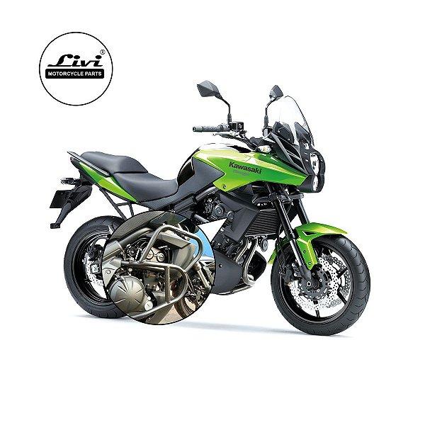 Protetor de motor e carenagem Kawasaki Versys 650 até 2015 sem pedaleiras.
