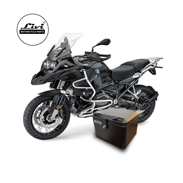 Baú Central Top Case 43 Litros Livi Exclusivo Para Moto BMW R 1200 GS Adventure 2013 em diante ( Necessário substituir os suportes para instalação).