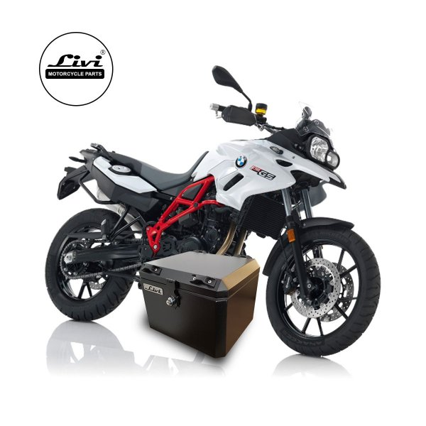 Top Case 43 litros LIVI para moto BMW F700 GS + Suporte.