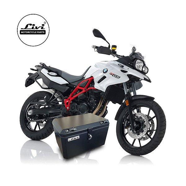 Top Case 50 litros LIVI para moto BMW F700 GS + Suporte.
