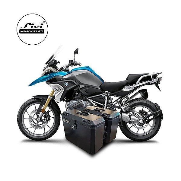 Baús Laterais 35 Litros Livi Exclusivos Para Moto BMW R 1200 GS + Suporte.