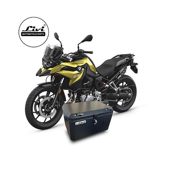 Baú Central Top Case 50 Litros Livi Exclusivo Para Moto BMW F750 GS + Suporte.