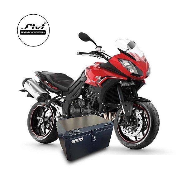 Baú Central Top Case 50 Litros Livi Exclusivo Para Moto Tiger Sport 1050 + Suporte.