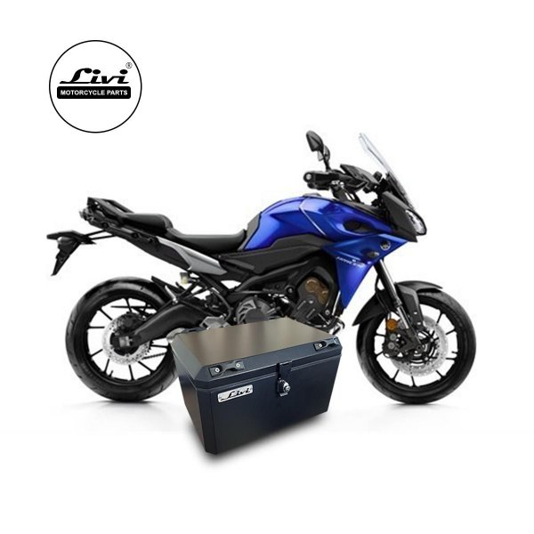 Baú Central Top Case 50 Litros Livi Exclusivo Para Moto Yamaha MT-09 TRACER + Suporte